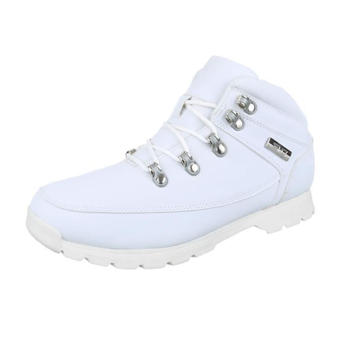 homme botte chaussure lacer ses blanc Me2U4sJb