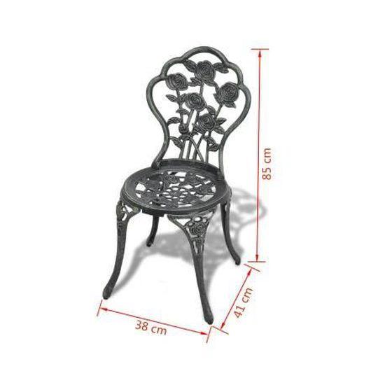 Salon de jardin table et chaise vintage bistrot terrasses - Achat ...