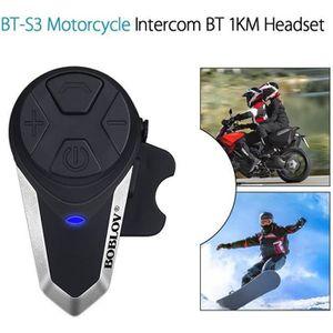 INTERCOM MOTO Boblov BT-S3 Intercom Moto Casque Moto Oreillette