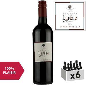 VIN ROUGE Domaine de Larzac Pays d'Oc Syrah Marselan Rouge 2