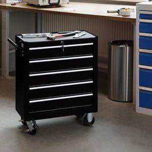 DESSERTE CHANTIER Chariot d'atelier 5 tiroirs à outils servante cais
