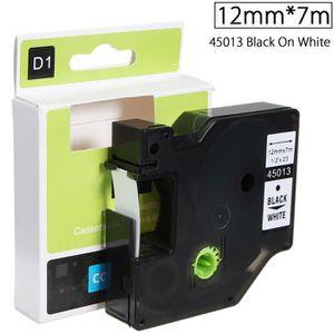 RUBAN - ENCREUR Ruban Etiquette Plastique 12mmx7m Pour Dymo D1 450