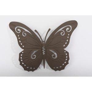 deco murale papillons metal achat vente deco murale. Black Bedroom Furniture Sets. Home Design Ideas