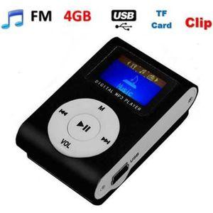 LECTEUR MP3 Lecteur Baladeur MP3 Ecran LCD NOIR + Carte SD 4 G