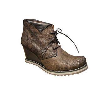 BOTTINE Low boots LIBRE COMME L AIR compensé marron