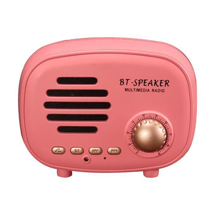 Q108 Portable Rétro Parleur Sans Fil Bluetooth Stéréo Son Caisson De Basses Pk _cxx679