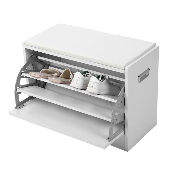 Meuble à Chaussures Contemporain étagère Banc Rangement Chaussure