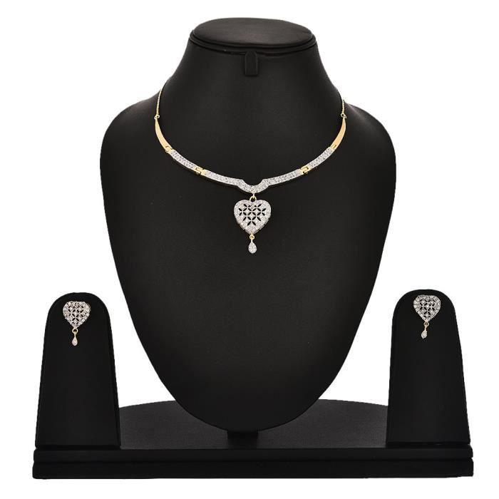Femmes imitation - Mode Bijoux annonce Zircon mariage Set collier pour etKRCZ4