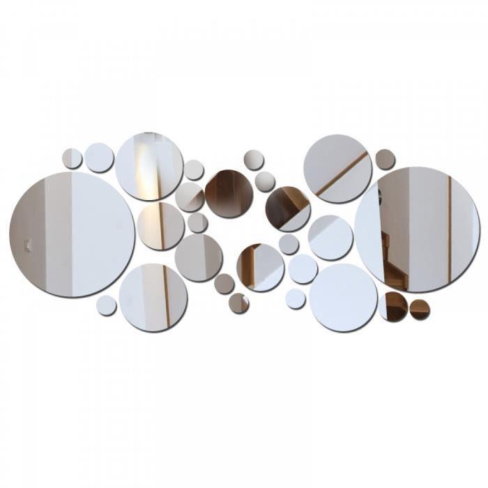 X biens sunacrylic grand motif mur miroir autocollant - Miroir autocollant design ...