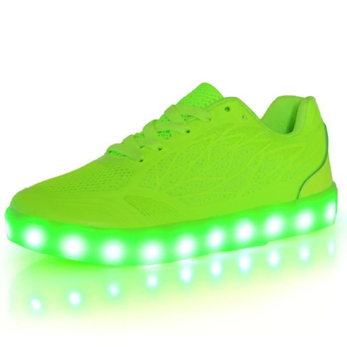 7 Couleur LED chaussures USB Chargeable chaussu...