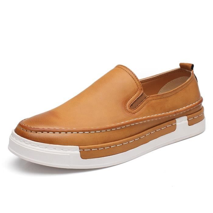 En Chaussure Iztpserg D'affaires Cuir Mocassin Casual Homme DH9IWY2E