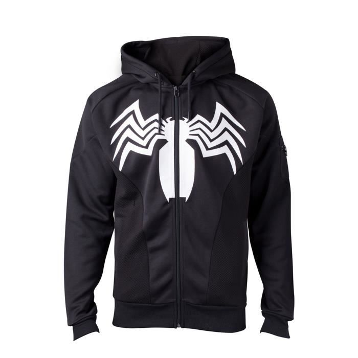 Venom Sweat-shirt à capuche Venom Logo Spiderman nouveau officiel ... 6e076df9aaee