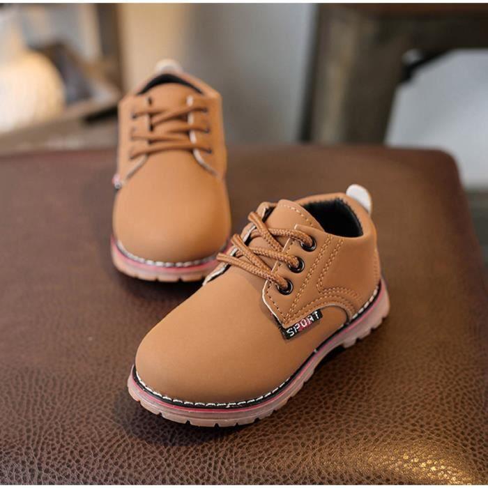 BOTTE Enfants Mode Garçons Filles Martin Sneaker Bottes Lace Up Kids Bébé Casual Chaussures@JauneHM