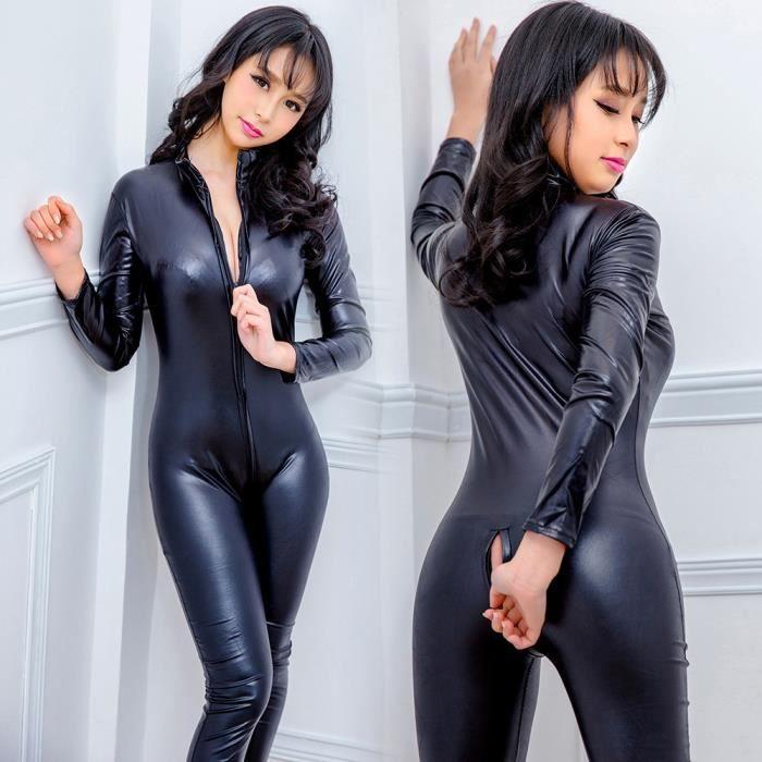 Lafayestore®Femmes Sexy Combinaisons En Cuir Sous-Vêtements Super ... 8e6f3a54cc6