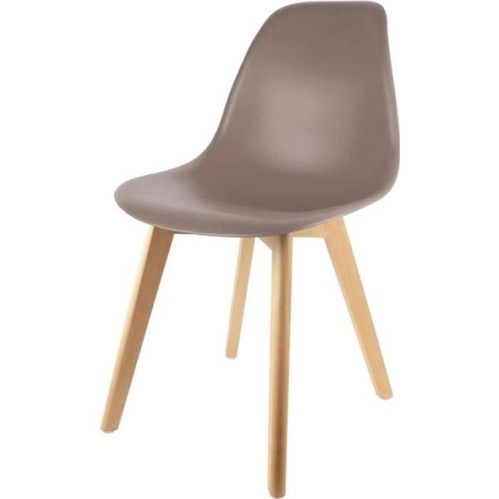 Chaise scandinave Taupe Achat Vente chaise Gris Soldes d¨s