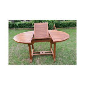 Table de jardin en teck massif ovale - Achat / Vente Table de ...