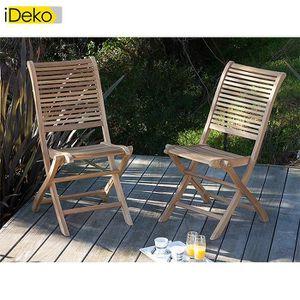Salon de jardin bois Ideko - Achat / Vente Salon de jardin bois ...