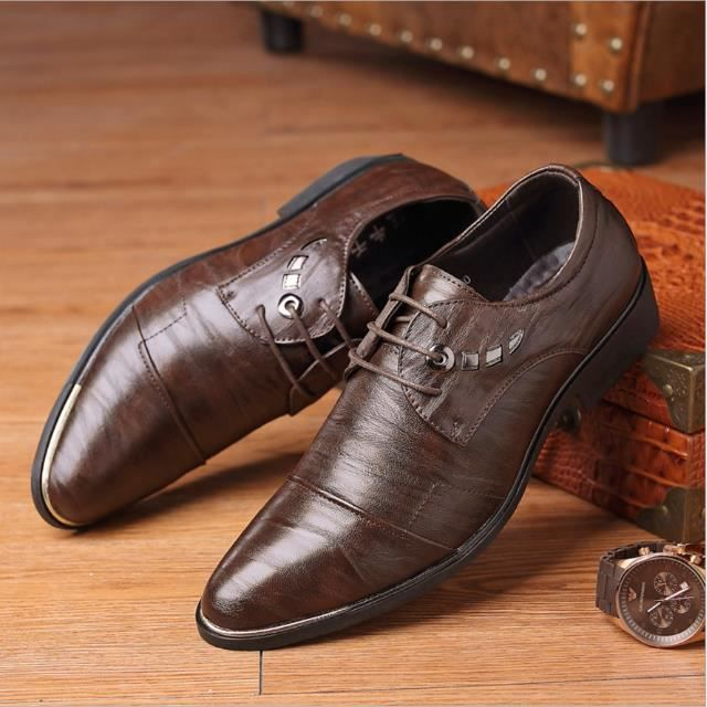 Nouveau 2018 Hommes Robe Oxford Chaussures D'affaires Formelle Hommes Marron Noir ZTiFV54