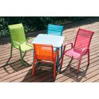 Fauteuil moderne coloré, chaise enfant en métal et textilène ...