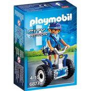 ACCESSOIRE DE FIGURINE PLAYMOBIL 6877 Policière avec Gyropode