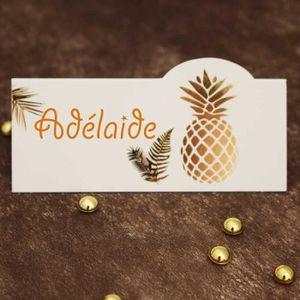 MARQUE-PLACE  10 Pcs marque place, porte nom, étiquette ananas 9