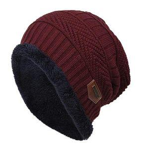 BONNET - CAGOULE SONG TING - Bonnet en tricot pelucheux - Vin rouge ... f40adbee79c
