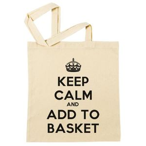 SAC SHOPPING Sac à Provisions - Keep Calm And Add To Basket  Pl