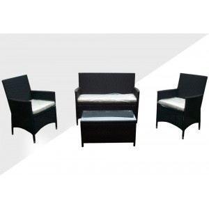 Salon de jardin en résine - table basse -sofa - Achat / Vente salon ...