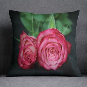 housse de coussin rose achat vente pas cher. Black Bedroom Furniture Sets. Home Design Ideas