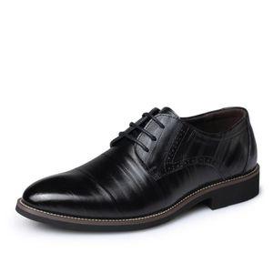 Mocassins en cuir Chaussures Oxford pour Chaussures habillées en cuir véritable homme rétro Derbies hommes,noir,8,120_120