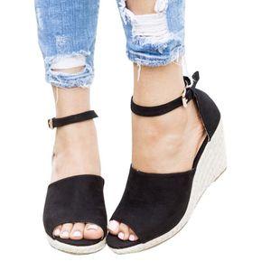 SANDALE - NU-PIEDS Minetom Femmes Mode Sandales Corde Tréssé Lanière
