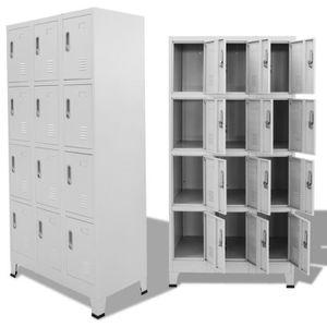 MEUBLE À CHAUSSURES Armoire à casiers avec 12 compartiments 90 x 45 x