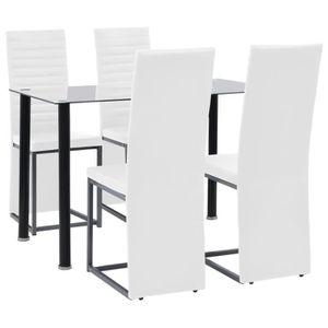 Table et chaise de cuisine noir et blanc - Achat / Vente pas cher