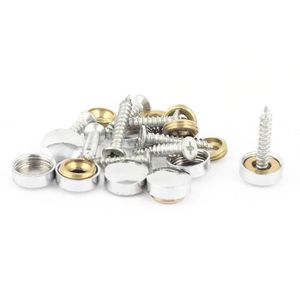 VIS - CACHE-VIS 9 Pcs raccords décoratifs Ton argent 12mm Capsules