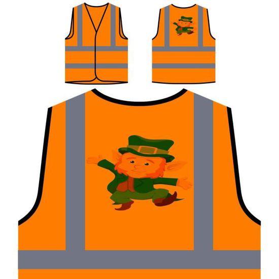 De st Personnalisée Patrick's Irlande Funny Veste À Protection Orange Irish Visibilité Personn Day Haute daaw810x