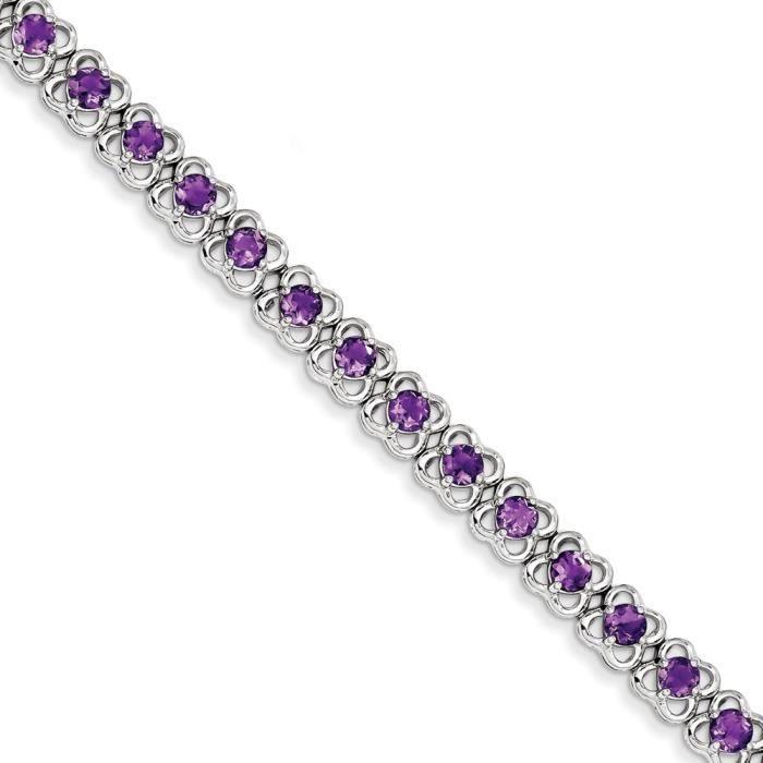 Bracelet Femme-Argent 925/1000–Améthyste
