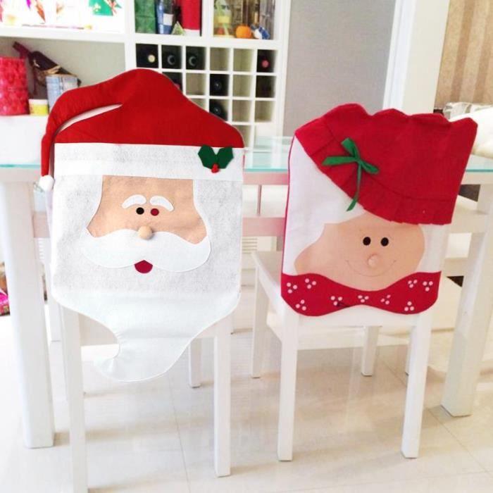 housse de chaises noel pere noel - achat / vente housse de chaises