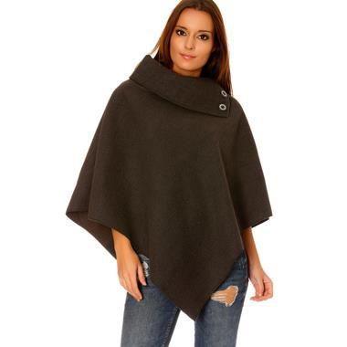 Manteau laine gris anthracite