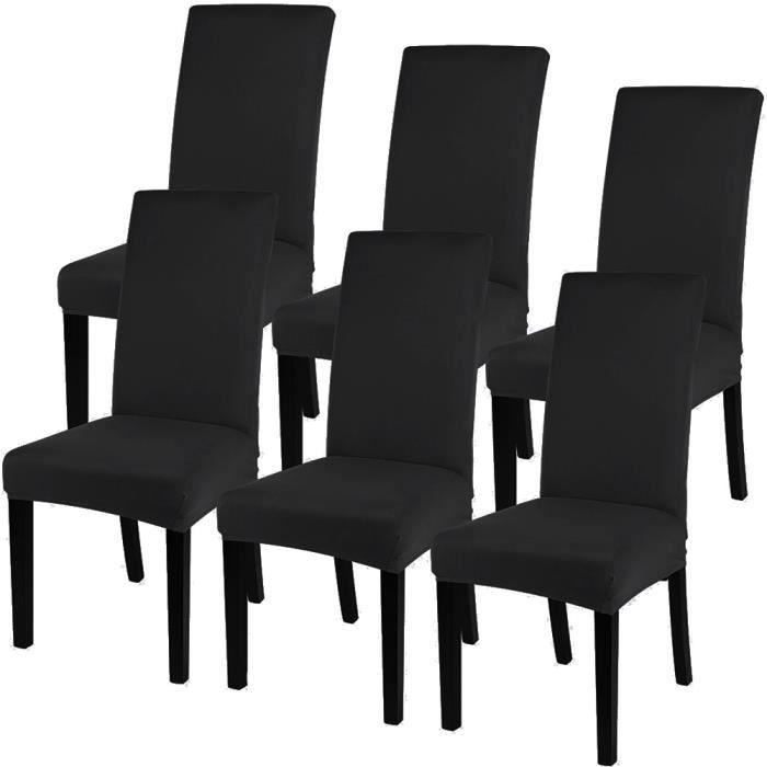 De Pas Pièces Cher Salle Chaise Moderne Décor Haute Extensible Chaises Noir Manger Stretch Élastique Housse Bi 6 A zqVGSMpU
