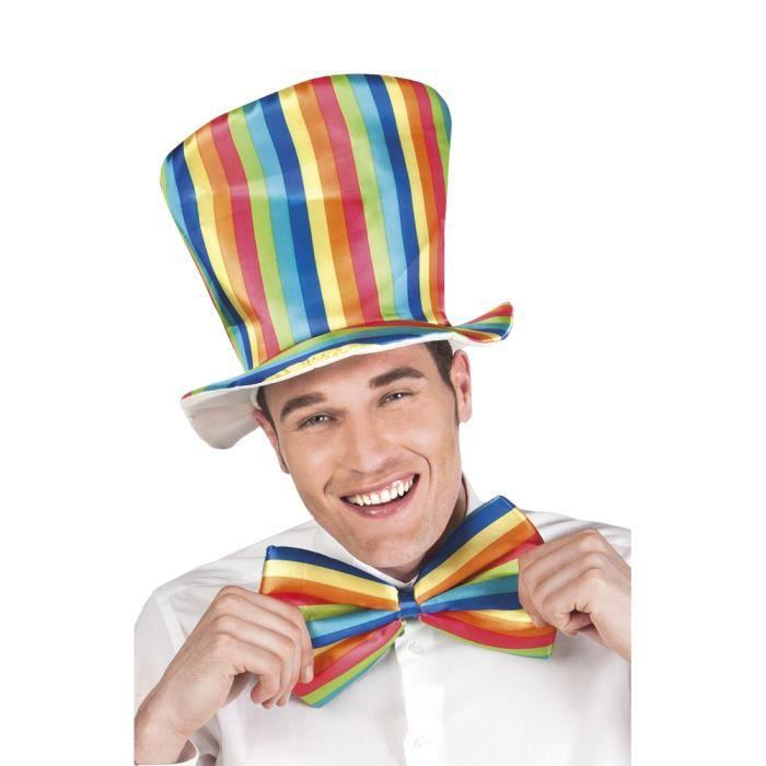 DÉGUISEMENT - PANOPLIE Kit clown multicolore adulte - Taille Unique