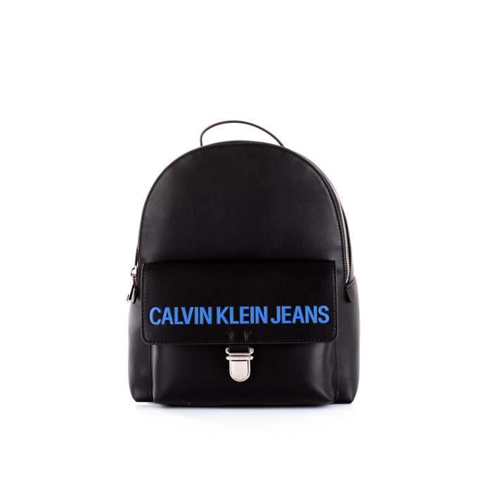 Sac À Calvin Cuir Noir Femme Klein K40k400386001 Dos Artificielle TFqrq4Yg6