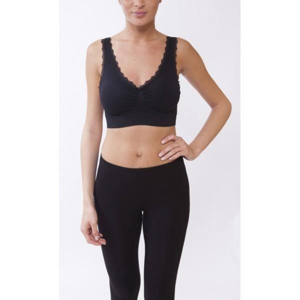 Brassiere Sport Femme Bandeau cr... Noir Noir Noir - Achat   Vente ... 2136519b111d