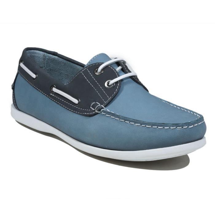 Chaussures Bateaux homme Nubuck Gris foncé Garlin 3qCqIdd