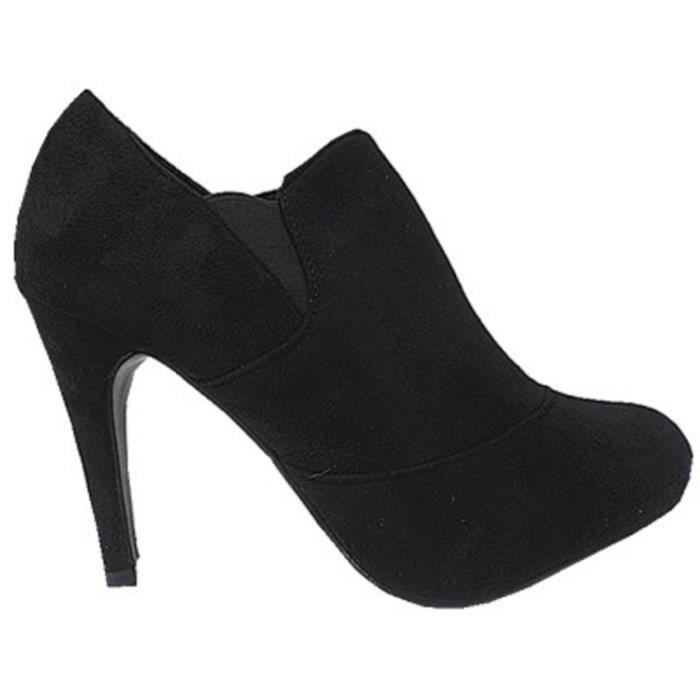 Chaussures à talon aiguille noires Sexy femme 9cbClE