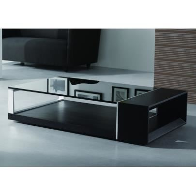 table basse domi - bois laqué noir - achat / vente table basse