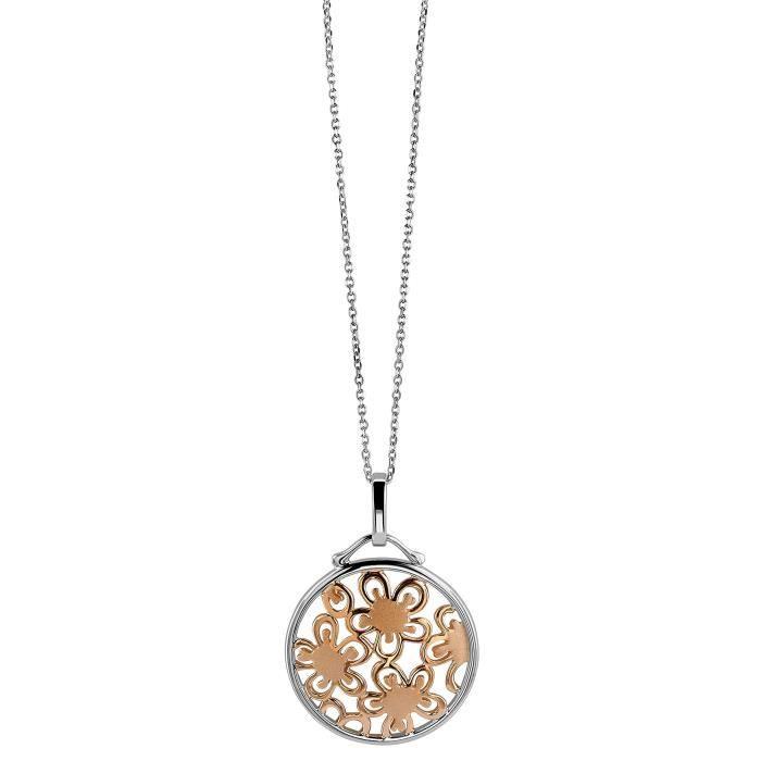 Orphelia collier en argent sterling plaqué rhodium avec zircone 1Z8P0R