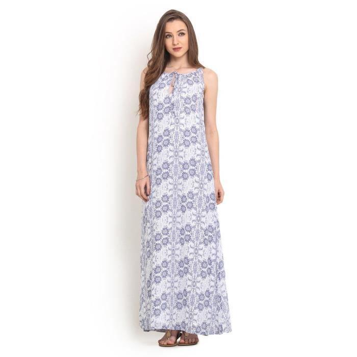 robe maxi pour imprimé floral pour femme AN7SD Taille-34