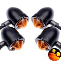 PHARES - OPTIQUES Moto Clignotant Ampoule Noir Anodisé En Aluminium