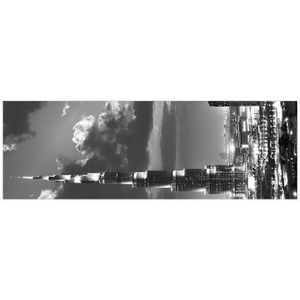 TABLEAU - TOILE Tableau déco Affiche contrecollée 30x90 - Burj Kha