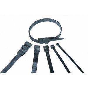 VOLTMAN Lot de 25 colliers de fixation Nylon - 180 x 9 mm - Noir